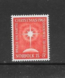 NORFOLK ISLAND #65  MNH