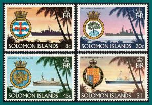 Solomon Islands MNH 435-8 Ships & Crests