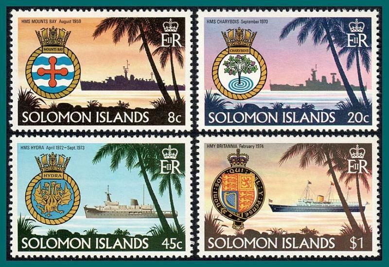 Solomon Islands MNH 435-8 Ships & Crests