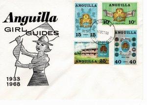 Anguilla 1968 Sc 40-3 Commemorative Perforate FDC