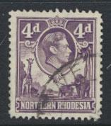 Northern Rhodesia  SG 36  SC# 36 Used  see detail and scan