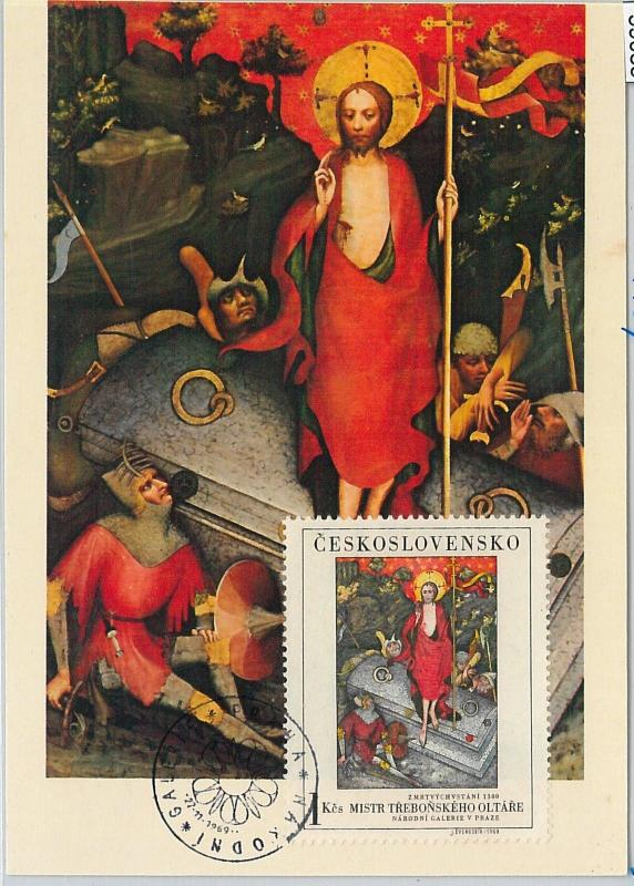 59085  -  CZECHOSLOVAKIA - POSTAL HISTORY: MAXIMUM CARD 1969  -  ART Religion