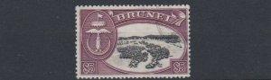 BRUNEI  1952 - 58    S G  113   $5  BLACK & MAROON  USED