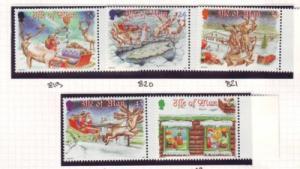 Isle of Man Sc 803-7 1998 Christmas stamp set mint NH