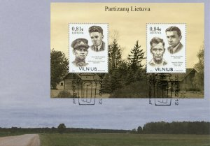 Lithuania Stamps 2021 FDC Lithuanian Partisans Anti-Soviet Resistance 2v M/S