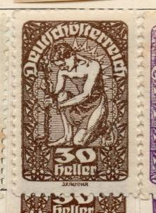 Austria 1919 Early Issue Fine Mint Hinged 30h. 181044