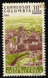 Colombia Air Mail 1961 Scott# C401 Used