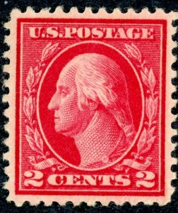 #499 – 1917 2c Washington, rose, type I.  MLH No Gum