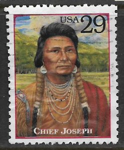 USA, 2869F, USED, LEGENDS OF THE WEST - CHIEF JOSEPH