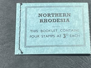 NORTHERN RHODESIA # 78a-MINT/NH---COMPLETE STITCHED BOOKLET---1963