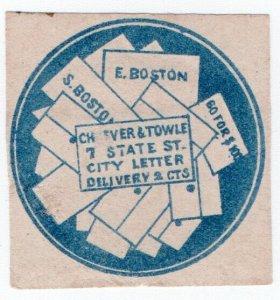 (I.B) US Local Post : Cheever & Towle 5c (Boston)