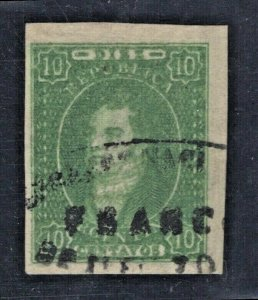 Argentina #9 Used VF w/Cert. Society of Phil. Americans SCV. $1750  (JH 6/10)
