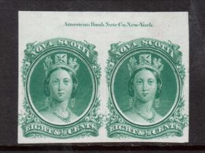 Nova Scotia #11P XF Imprint Proof Pair On India Paper