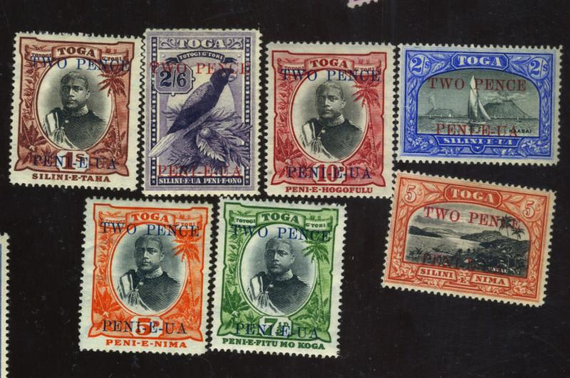 Tonga #63-69 MINT FVF OG LH/HR Cat$172