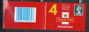 G.B.1990 INTERNATIONAL-BY AIR MAIL #BK307  CMPLT. BOOKLET C.V.=$8.50
