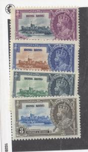 HONG KONG # 147-150 VF-MNH KGV SILVER JUBILEES CAT VALUE $200