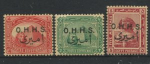 STAMP STATION PERTH Egypt #O14-O16 Official Issue MLH  1915, 1914