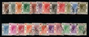 HONG KONG SG140/62 1938-52 DEFINITIVE SET USED