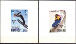 Sharjah. 1968. LUXURY BLOCKS 400-7. Winter Olympic Games. MNH.