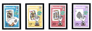 Bermuda 312-15 MNH 1975 World Bridge Championship