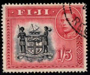 FIJI Scott 128 Used coat of arms stamp