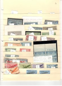 US AIRMAIL COLLECTION, MINT/USED