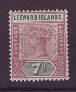 J16715 JLstamps 1890 leeward islands mh #6 queen signed on reverse