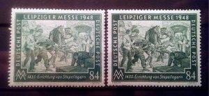 Germany Allied Occupation Mi 968 a+b **