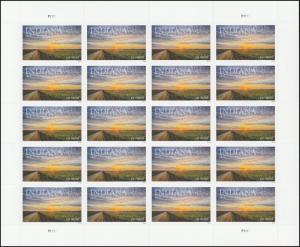 US 5091 Statehood Indiana forever sheet (20 stamps) MNH 2016