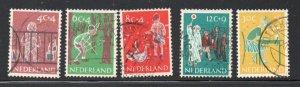 Netherlands Sc B336-40 1959 Child Welfare stamp set used