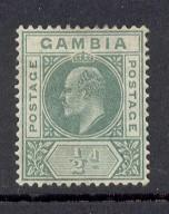 Gambia Sc 41 1904 1/2d green Edward VII stamp mint