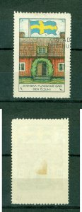 Sweden Poster Stamp 1931. National Day June 6. House,Swedish Flag. Cancel