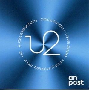 Ireland Music Stamps 2020 MNH U2 A Celebration 4v S/A Booklet