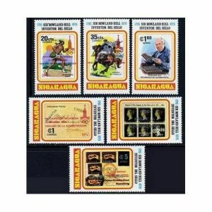 Nicaragua Michel 2160-2165,2166 Bl.134,MNH. Olympics Moscow-1980.Rowland Hill.