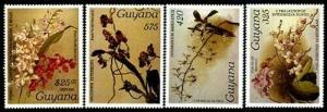HERRICKSTAMP GUYANA Sc.# 1270, 1283, 1326, E9 Orchids XXX (MI 1966-69) Stamps