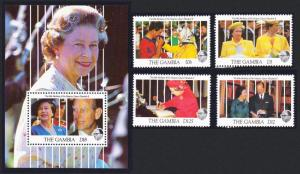 Gambia 65th Birthday of Queen Elizabeth II 4v+MS SG#1165-MS1169
