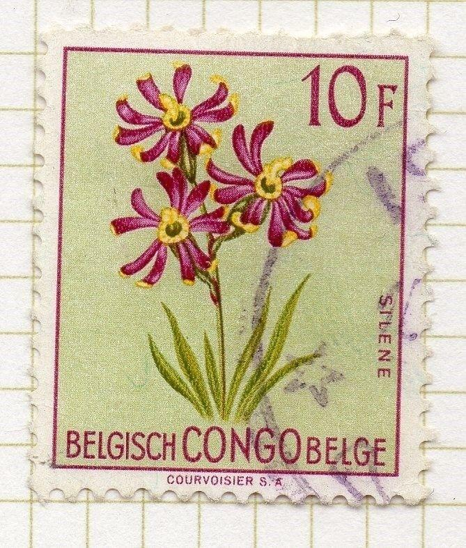 Belgian Congo 1952 Flowers Early Issue Fine Used Value 10F. 248242