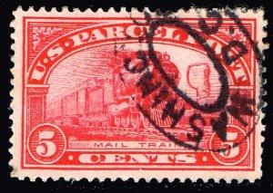 US STAMP BOB #Q5 5c Parcel Post Stamp 1913 Used