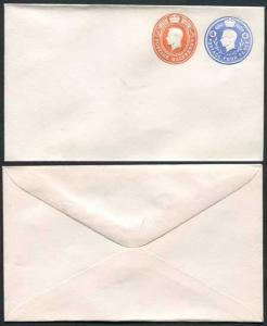 ESCP842 KGVI 4d and 1/2d Compound Stamped to Order Envelope Approx 89mm x 152mm