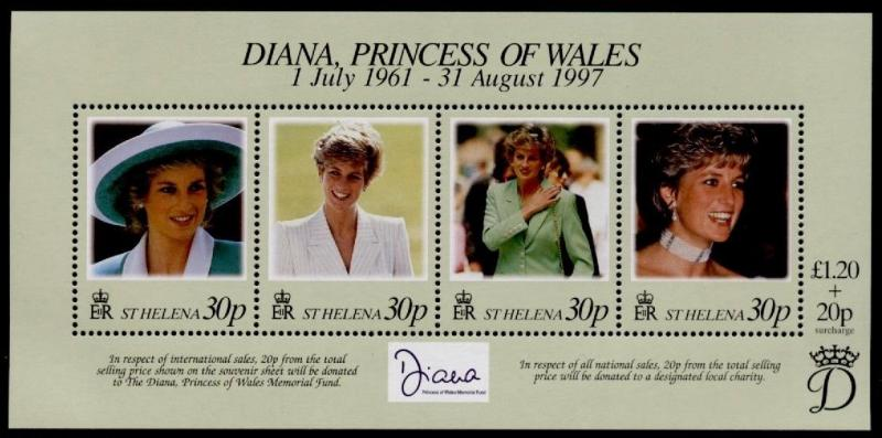St Helena 711 MNH Diana, Princess of Wales