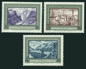 Austria 923-925,MNH.Michel 1389-1391. Nationalization:Power industry-25,1972.