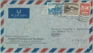 86183 - PAKISTAN - POSTAL HISTORY -  Airmail  COVER to ITALY  1950's