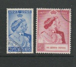 St Kitts Nevis 1948 Wedding FU SG 80/1