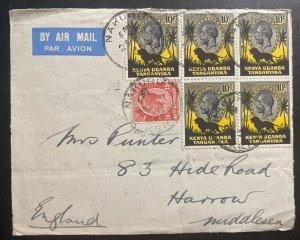 1935 Nakuru Kenya British KUT Airmail Front Cover To Harrow England