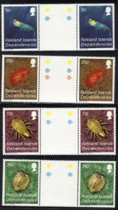 Falkland Is. #1L76-79 MNH gutter pairs