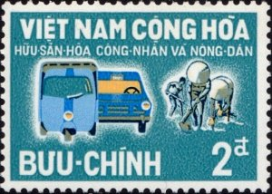 South Vietnam 1963 Motor vehicles and labourers MNH**
