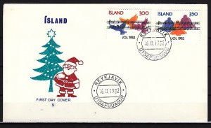 Iceland, Scott cat. 565-566. Christmas Music issue. First day cover. ^