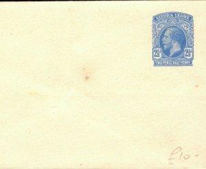 SIERRA LEONE KGV Unused Postal Stationery 2½d Envelope {samwells-covers} PB327