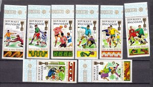 J27593 1979 rwanda set mnh hinged on margins #335-42 sports