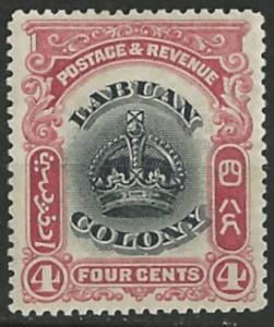 Labuan # 101  Crown - 4c  (1)   Unused LH